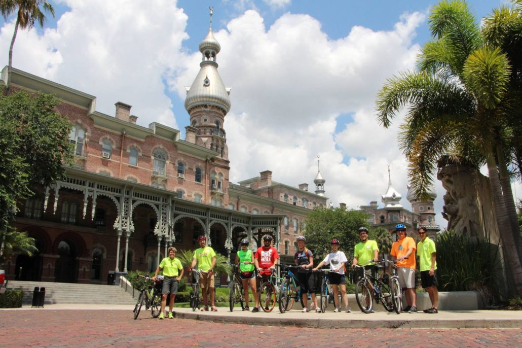 FDOT District Seven savvy cyclists at the University of Tampa.