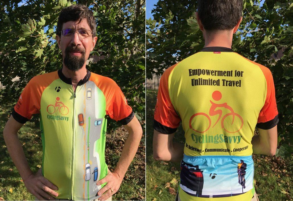 John Brooking in CyclingSavvy Jersey
