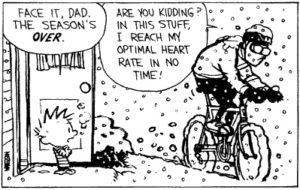 Winter Cycling Cartoon (copyright Calvin & Hobbes)