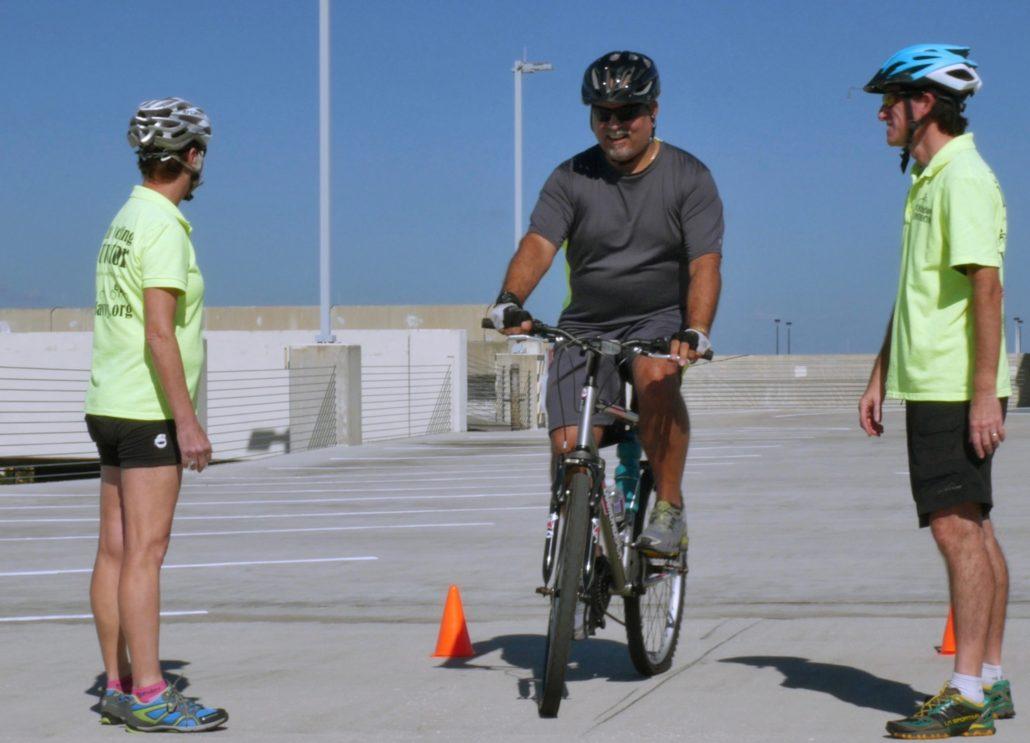 Perfecting bike handling skills in sunny Orlando, Florida.