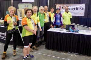 Savvy cyclists enjoying one of the nation's best bike expos.