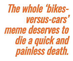 """Not """"bikes"""" or """"cars."""" Humans."""