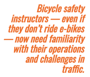 bike safety instructors need to know how to operate e-bikes