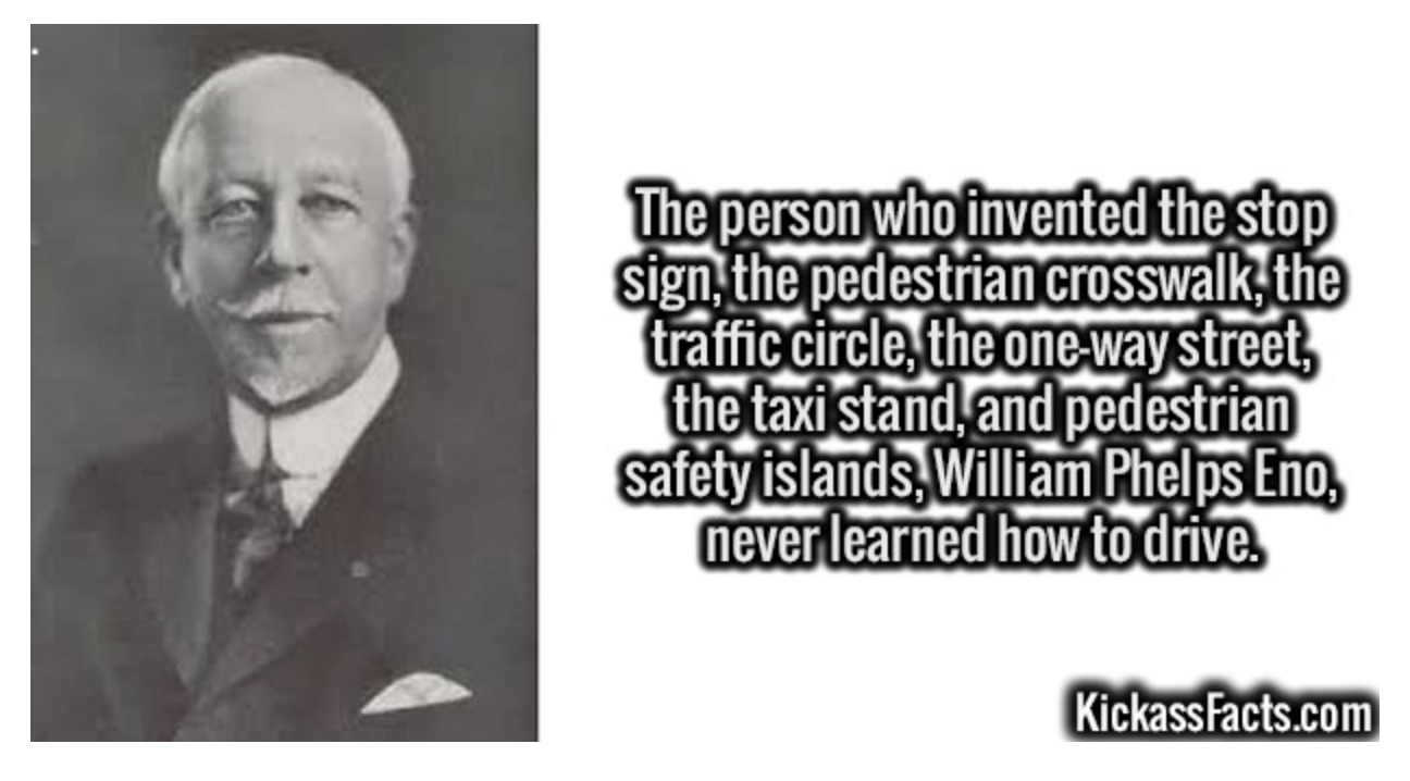 Father of Traffic Safety never drove a car