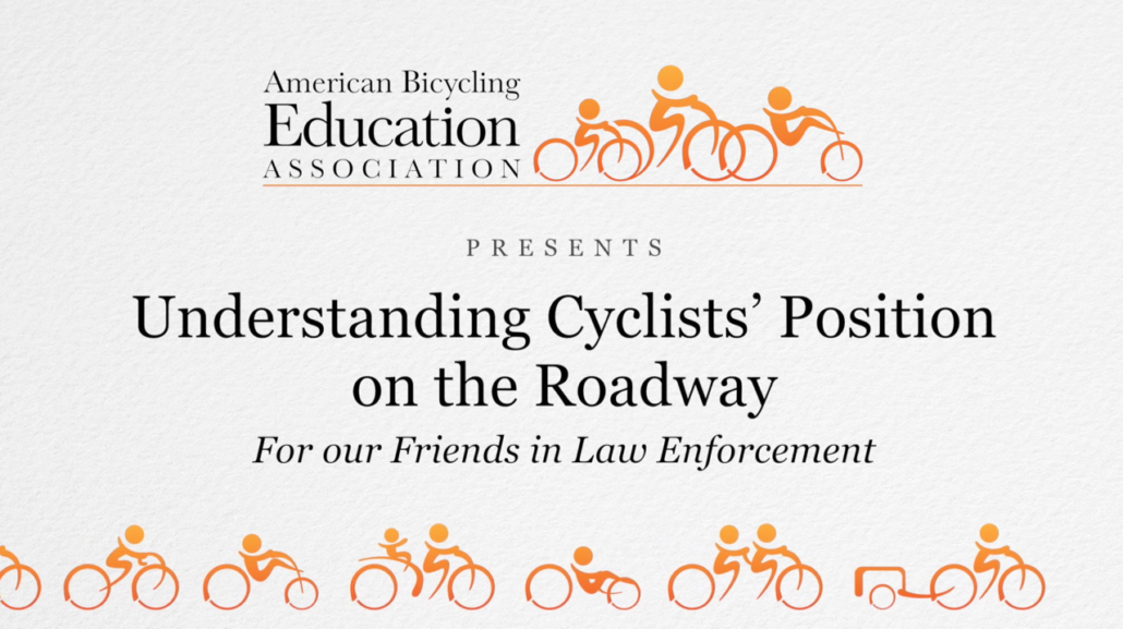 cyclist roadway position
