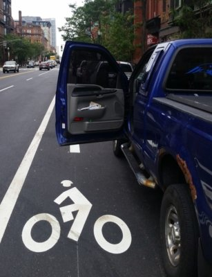 bike lane dooring