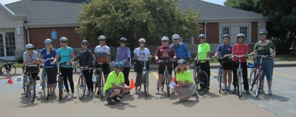 graduates of bike handling skills session