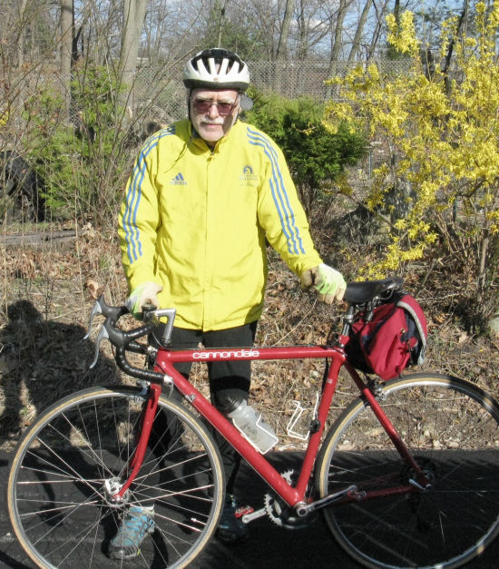Should bicyclists wear face masks? The author headed out on a recreational ride, no mask. Photo: Jacob Allen