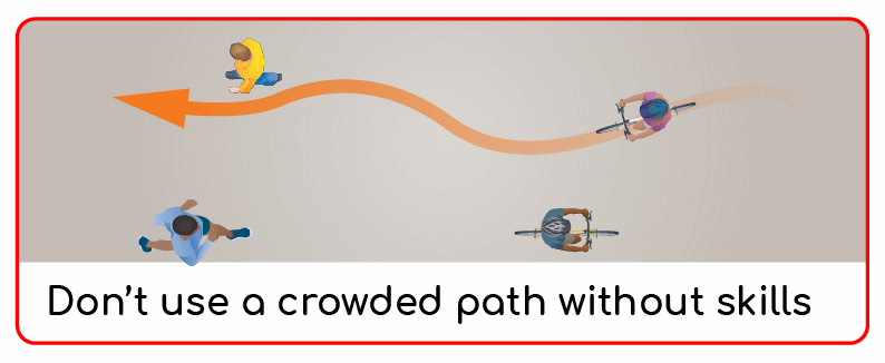 shared-use paths are not for unskilled riders