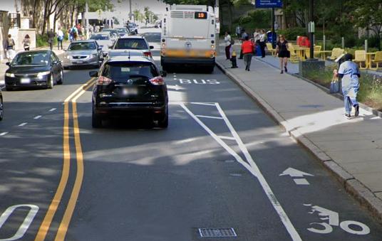 bike lane on longwood avenue boston