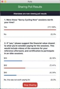 CyclingSavvy zoom poll