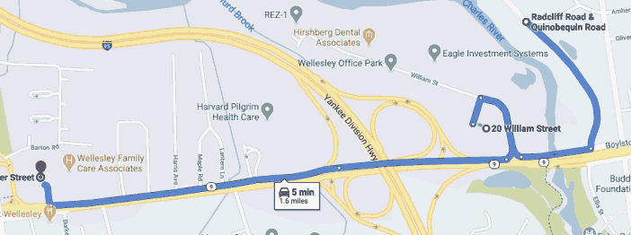 Google map of gnarly route for bicycle ride
