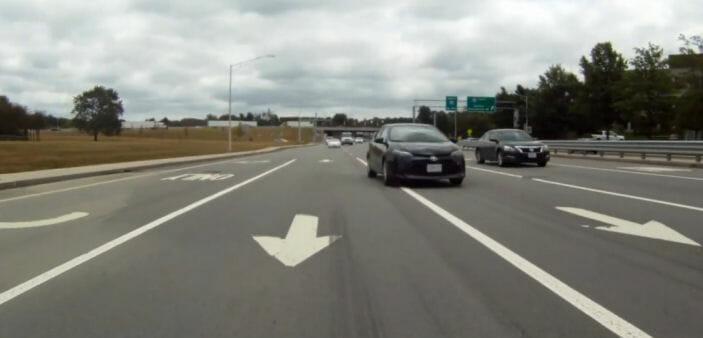 Car merging to pass me