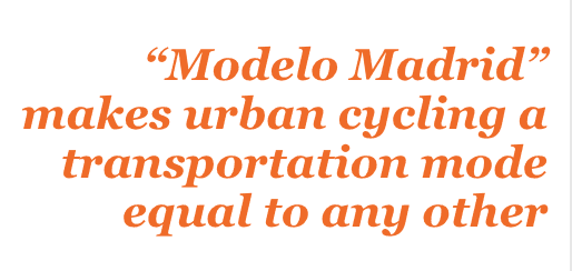 Modelo Madrid makes urban cycling a transportation mode equal to any other
