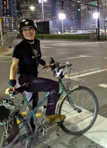 CyclingSavvy instructor Pam Murray