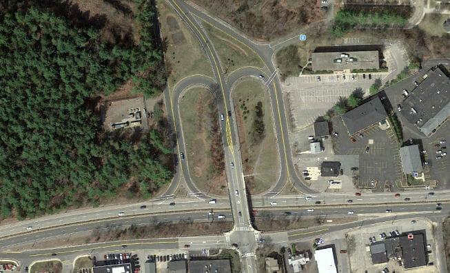 Interchange of Cedar Street and Route 9, Wellesley, Massachusetts
