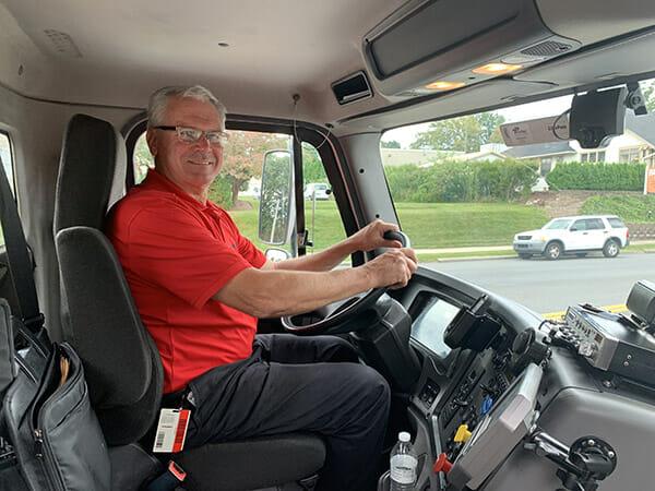 Bob Dolan in truck