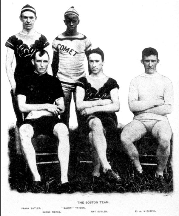 Bicycling racing's Boston Pursuit Team in 1897