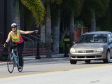 Savvy commuter in downtown Fort Myers