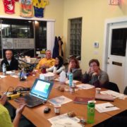 T&T session at Bicycle Coalition of Maine office
