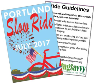 Slow Ride Spoke Card in Portland, Maine