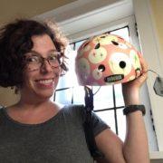 monica llorian, nutcase helmet