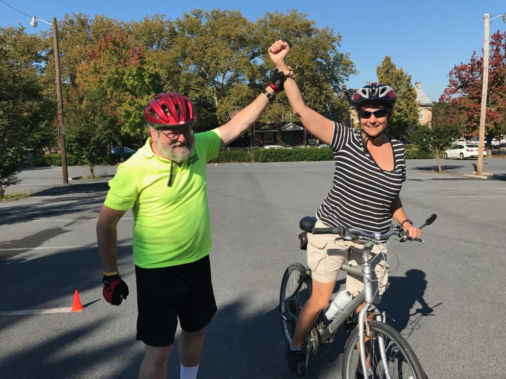 Attend Train Your Bike, CyclingSavvy's parking lot session, to find out what race she won.