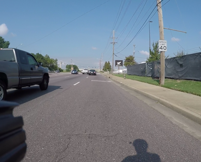 On multi-lane roads cyclists often have lanes to themselves, because motorists choose other lanes to pass.