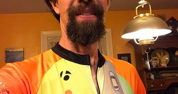 John Brooking with CyclingSavvy jersey