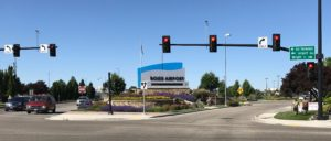 The Boise, Idaho, airport is near the center of the city.