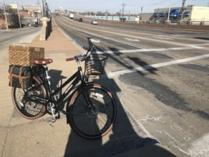 e-bike and empty arterial road