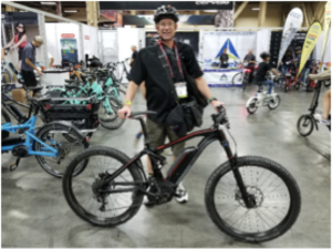 clint sandusky at interbike 2017
