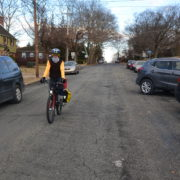 cycling in winter with daytime lighting