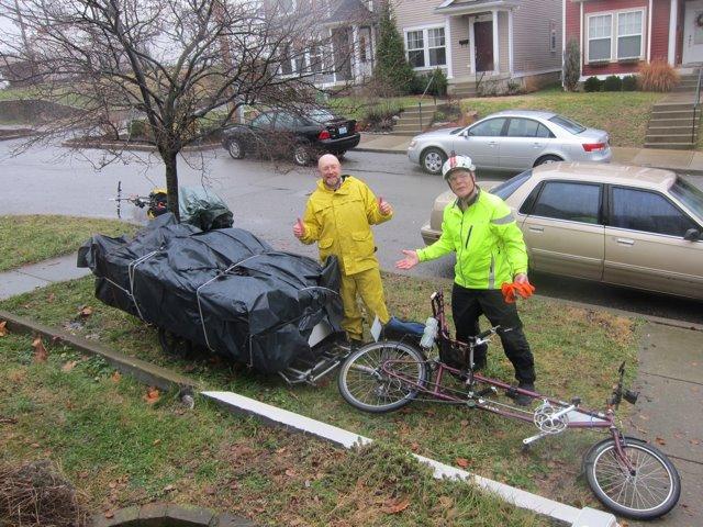 sofa hauled by bike