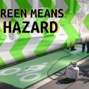 green in a bike lane means danger