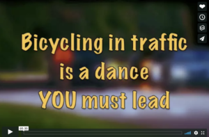 cycling in traffic is a dance you must lead