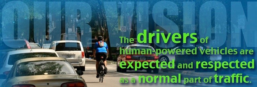 cyclists are a normal part of traffic
