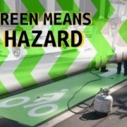 green paint means hazard