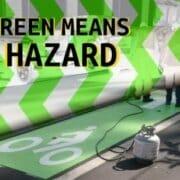 green paint means hazard