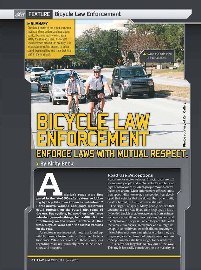 law enforcement magazine article image