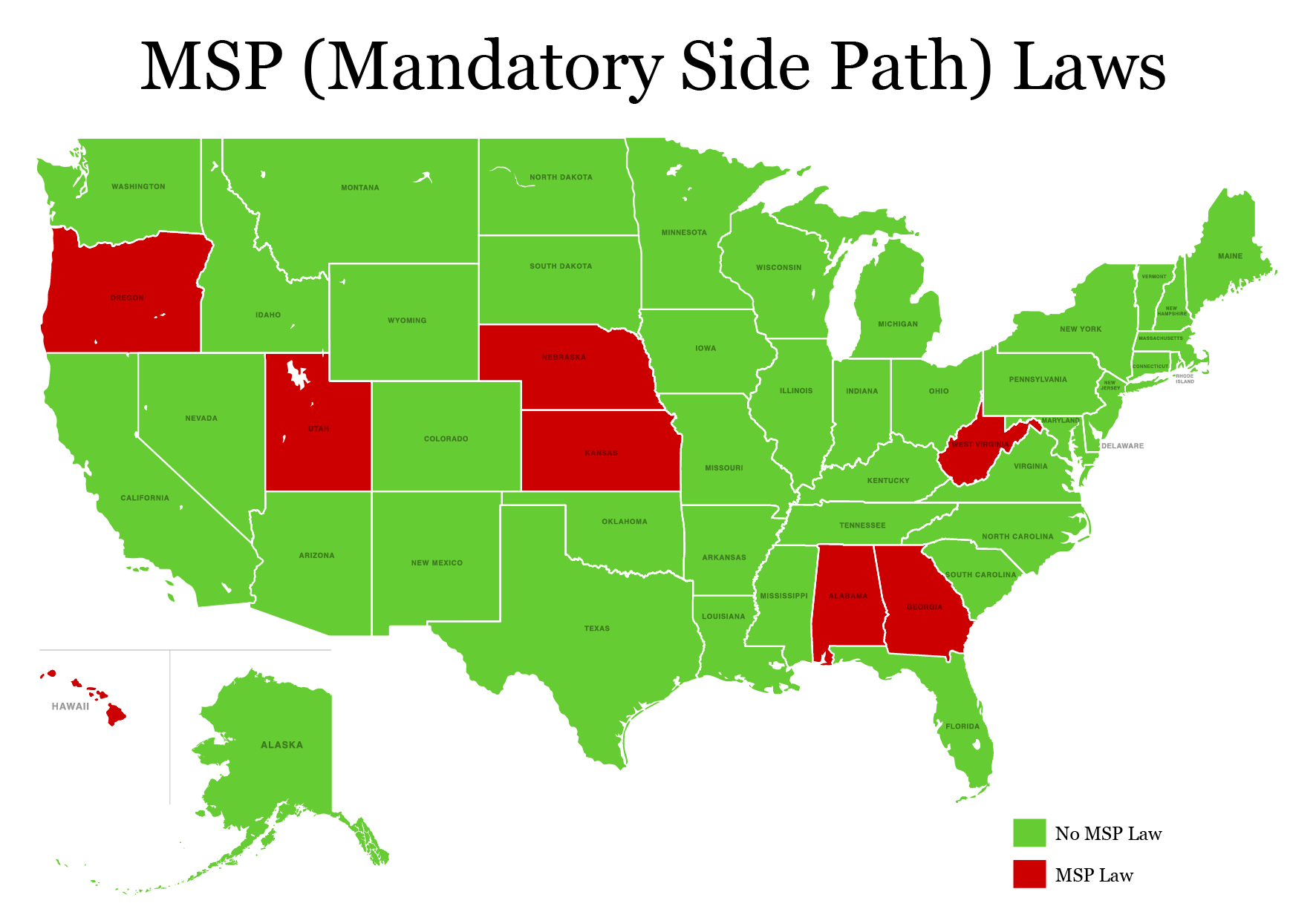 states with MSP law