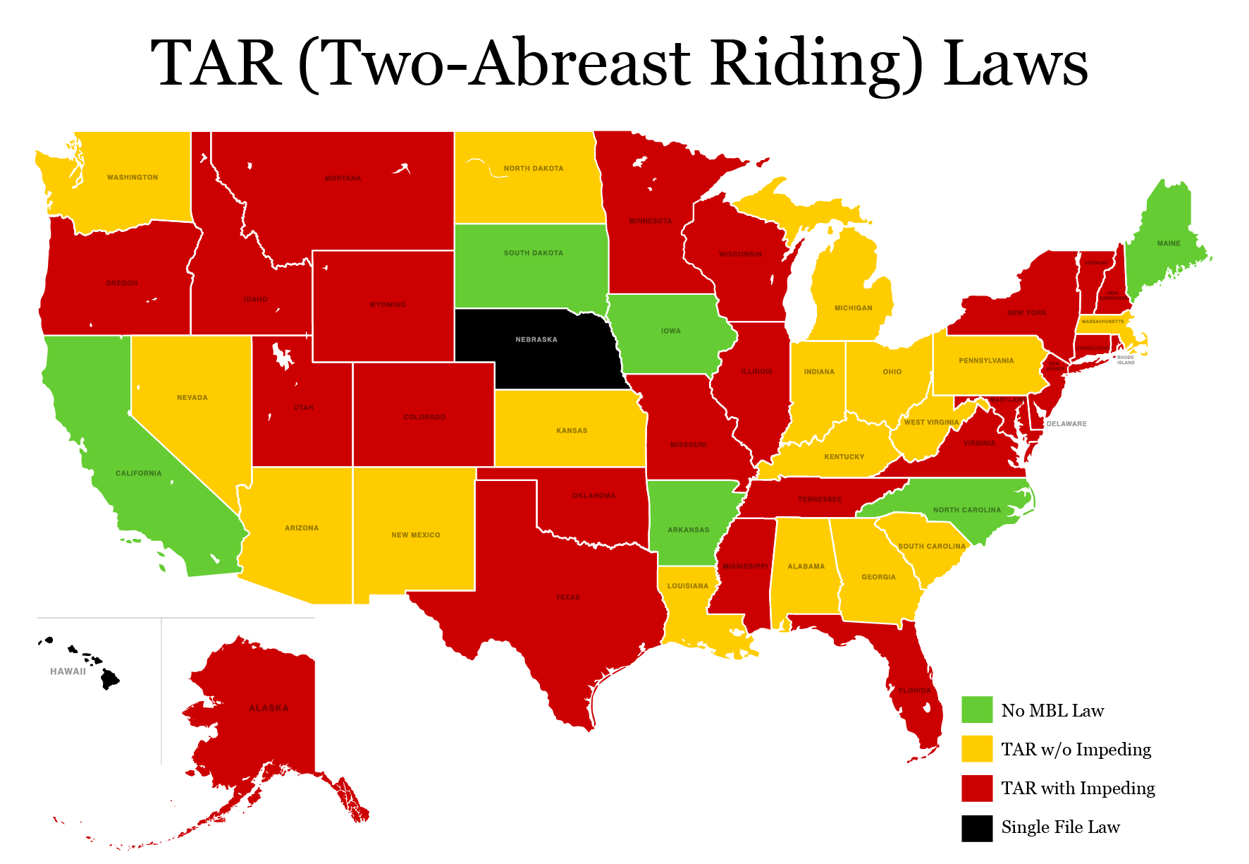 states with TAR law