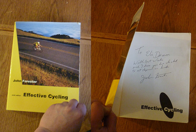 Eli Damon's copy of Effective cycling 6th Edition