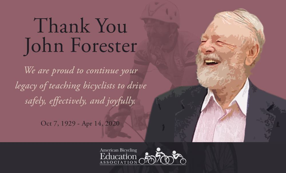 John Forester photo with note of appreciation.