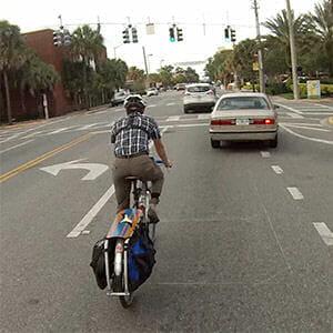 Mighk not riding in bike lane on Edgewater Drive