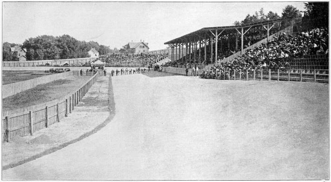 Bicycle Park, Waltham, Massachusets, around 1900