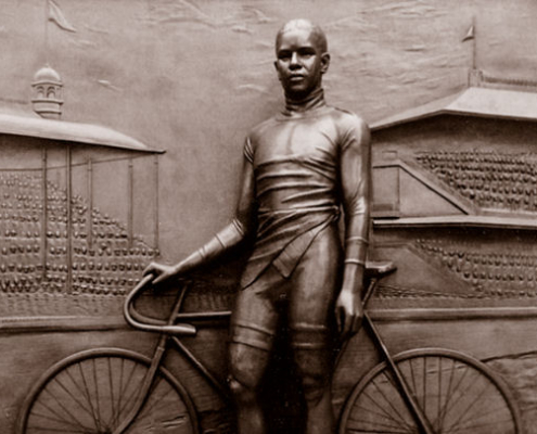 Major Taylor monument. Toby Mendez, courtesy of the Major Taylor Association