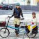 Cargo e-bike carrying child (courtesy Bike Friday)