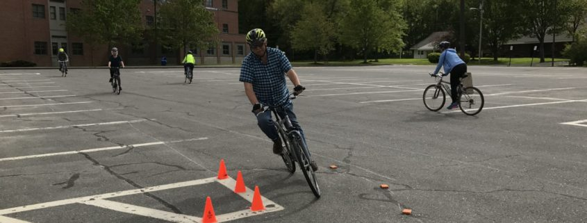 Bike cornering in Portland, ME