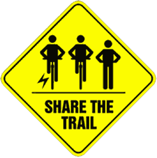 Share the trail sign with e-bike